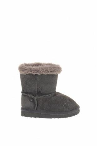 Παιδικά παπούτσια Okaidi, Μέγεθος 25, Χρώμα Γκρί, Φυσικό σουέτ, Τιμή 16,06€