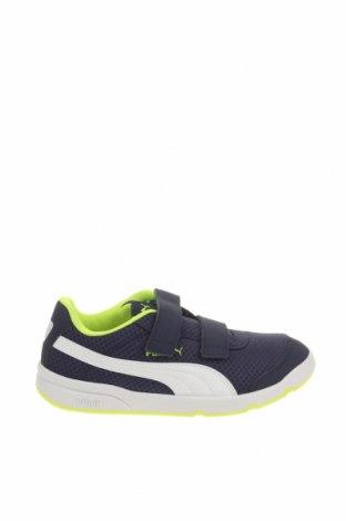 Παιδικά παπούτσια PUMA, Μέγεθος 34, Χρώμα Μπλέ, Κλωστοϋφαντουργικά προϊόντα, δερματίνη, Τιμή 37,25€