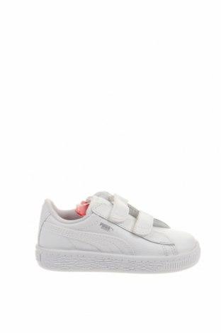 Παιδικά παπούτσια PUMA, Μέγεθος 24, Χρώμα Λευκό, Γνήσιο δέρμα, Τιμή 38,27€