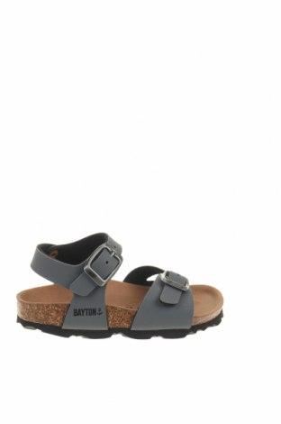 Детски сандали Bayton, Размер 24, Цвят Сив, Еко кожа, Цена 31,60лв.