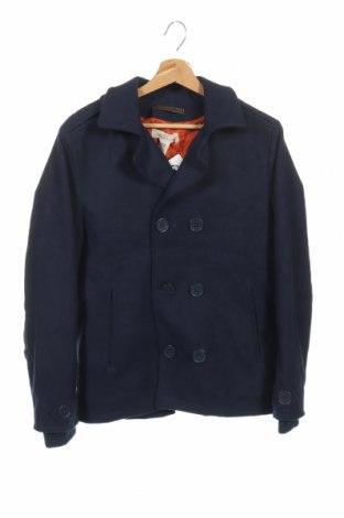 Παιδικό παλτό H&M L.O.G.G., Μέγεθος 14-15y/ 168-170 εκ., Χρώμα Μπλέ, 92% πολυεστέρας, 8% μαλλί, Τιμή 27,15€