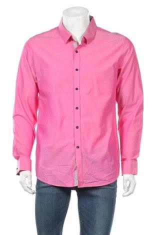 Ανδρικό πουκάμισο Bossini, Μέγεθος L, Χρώμα Ρόζ , Βαμβάκι, Τιμή 7,73€