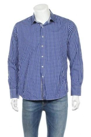 Ανδρικό πουκάμισο Bossini, Μέγεθος XL, Χρώμα Μπλέ, 100% βαμβάκι, Τιμή 6,79€