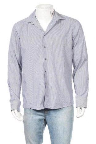 Мъжка риза Calvin Klein, Размер L, Цвят Син, Памук, Цена 35,70лв.