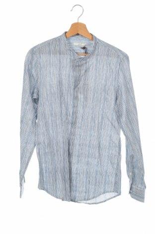Ανδρικό πουκάμισο Gaudi, Μέγεθος XS, Χρώμα Πολύχρωμο, 55% λινό, 45% βαμβάκι, Τιμή 32,58€