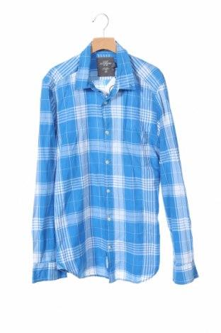 Мъжка риза H&M L.O.G.G., Размер S, Цвят Син, Памук, Цена 8,98лв.