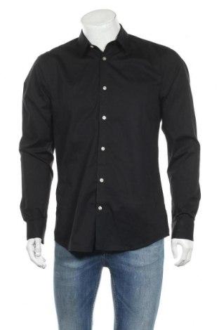 Мъжка риза Only & Sons, Размер L, Цвят Черен, Памук, Цена 18,48лв.
