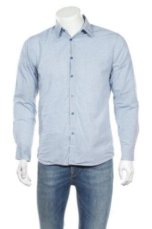 Ανδρικό πουκάμισο P.O. Box, Μέγεθος M, Χρώμα Μπλέ, Βαμβάκι, Τιμή 9,94€