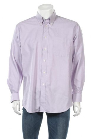 Мъжка риза St. Michael Marks & Spencer, Размер L, Цвят Лилав, 70% памук, 30% полиестер, Цена 10,32лв.