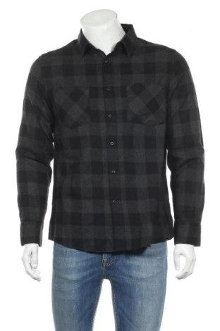 Мъжка риза Urban Classics, Размер L, Цвят Сив, Памук, Цена 39,00лв.