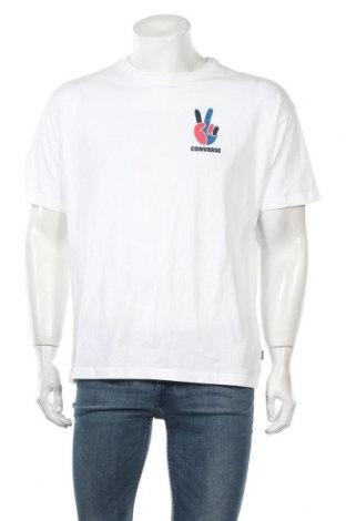 Ανδρικό t-shirt Converse, Μέγεθος M, Χρώμα Λευκό, Βαμβάκι, Τιμή 12,16€