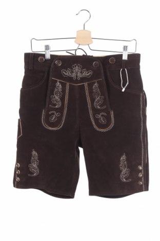Pantaloni scurți de bărbați, Mărime M, Culoare Maro, Piele naturală, Preț 228,79 Lei