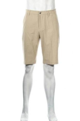 Ανδρικό κοντό παντελόνι Adidas, Μέγεθος M, Χρώμα  Μπέζ, 88% πολυεστέρας, 12% ελαστάνη, Τιμή 24,33€