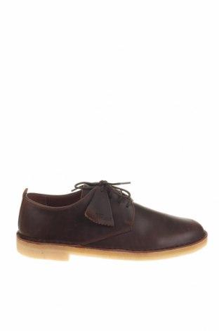 Мъжки обувки Clarks, Размер 42, Цвят Кафяв, Естествена кожа, Цена 100,17лв.