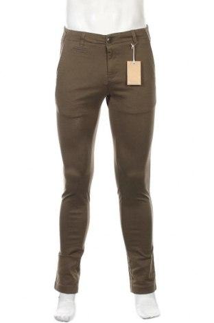 Мъжки панталон Knowledge Cotton Apparel, Размер S, Цвят Зелен, 97% памук, 3% еластан, Цена 21,15лв.
