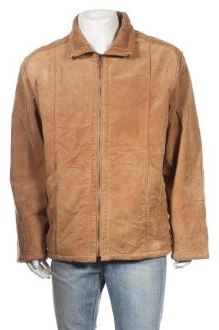 Ανδρικό δερμάτινο μπουφάν Woodpecker, Μέγεθος XL, Χρώμα Καφέ, Γνήσιο δέρμα, Τιμή 54,91€