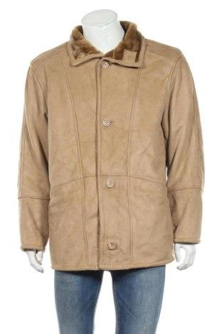 Мъжко палто, Размер L, Цвят Бежов, Полиестер, Цена 18,11лв.