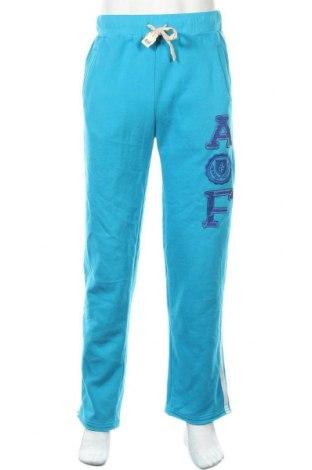 Ανδρικό αθλητικό παντελόνι Abercrombie & Fitch, Μέγεθος L, Χρώμα Μπλέ, Τιμή 18,19€