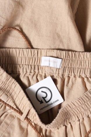 Панталон за бременни Mamalicious, Размер S, Цвят Бежов, 55% лен, 45% вискоза, Цена 48,00лв.