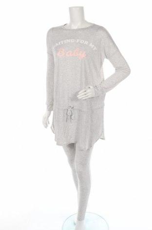 Пижама Women'secret Maternity, Размер S, Цвят Сив, 60% полиестер, 36% вискоза, 4% еластан, Цена 32,76лв.