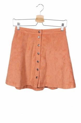 Φούστα Abercrombie & Fitch, Μέγεθος XS, Χρώμα Πορτοκαλί, 90% πολυεστέρας, 10% ελαστάνη, Τιμή 14,84€