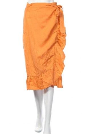Пола Edited, Размер XS, Цвят Оранжев, 55% лен, 45% вискоза, Цена 11,20лв.