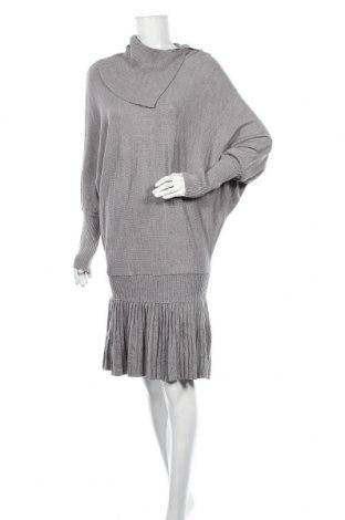 Φόρεμα Atos Lombardini, Μέγεθος M, Χρώμα Γκρί, 50% μαλλί, 50%ακρυλικό, Τιμή 39,74€