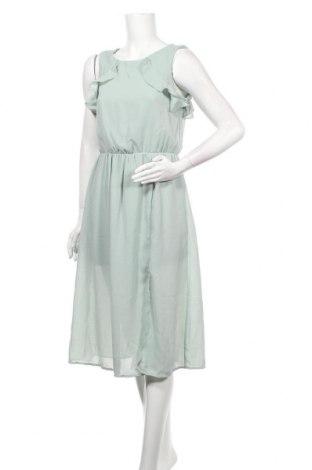 Рокля Vero Moda, Размер M, Цвят Зелен, Полиестер, Цена 34,20лв.