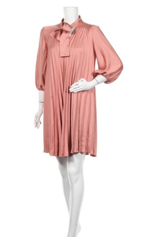 Рокля Zara, Размер M, Цвят Оранжев, Полиестер, Цена 31,05лв.