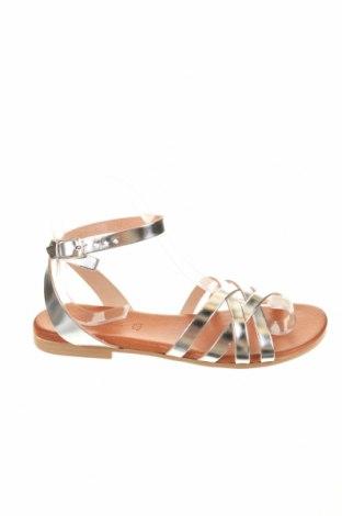 Sandály, Velikost 38, Barva Stříbrná, Eko kůže, Cena  274,00Kč