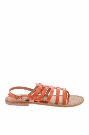 Σανδάλια Calank, Μέγεθος 41, Χρώμα Πορτοκαλί, Γνήσιο δέρμα, Τιμή 36,70€