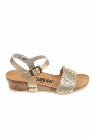 Σανδάλια Sunbay, Μέγεθος 36, Χρώμα Χρυσαφί, Δερματίνη, Τιμή 36,70€
