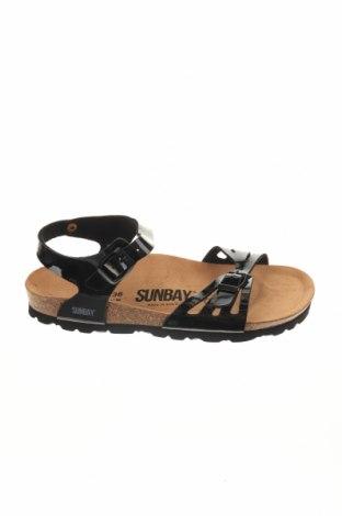 Σανδάλια Sunbay, Μέγεθος 38, Χρώμα Μαύρο, Δερματίνη, Τιμή 24,32€