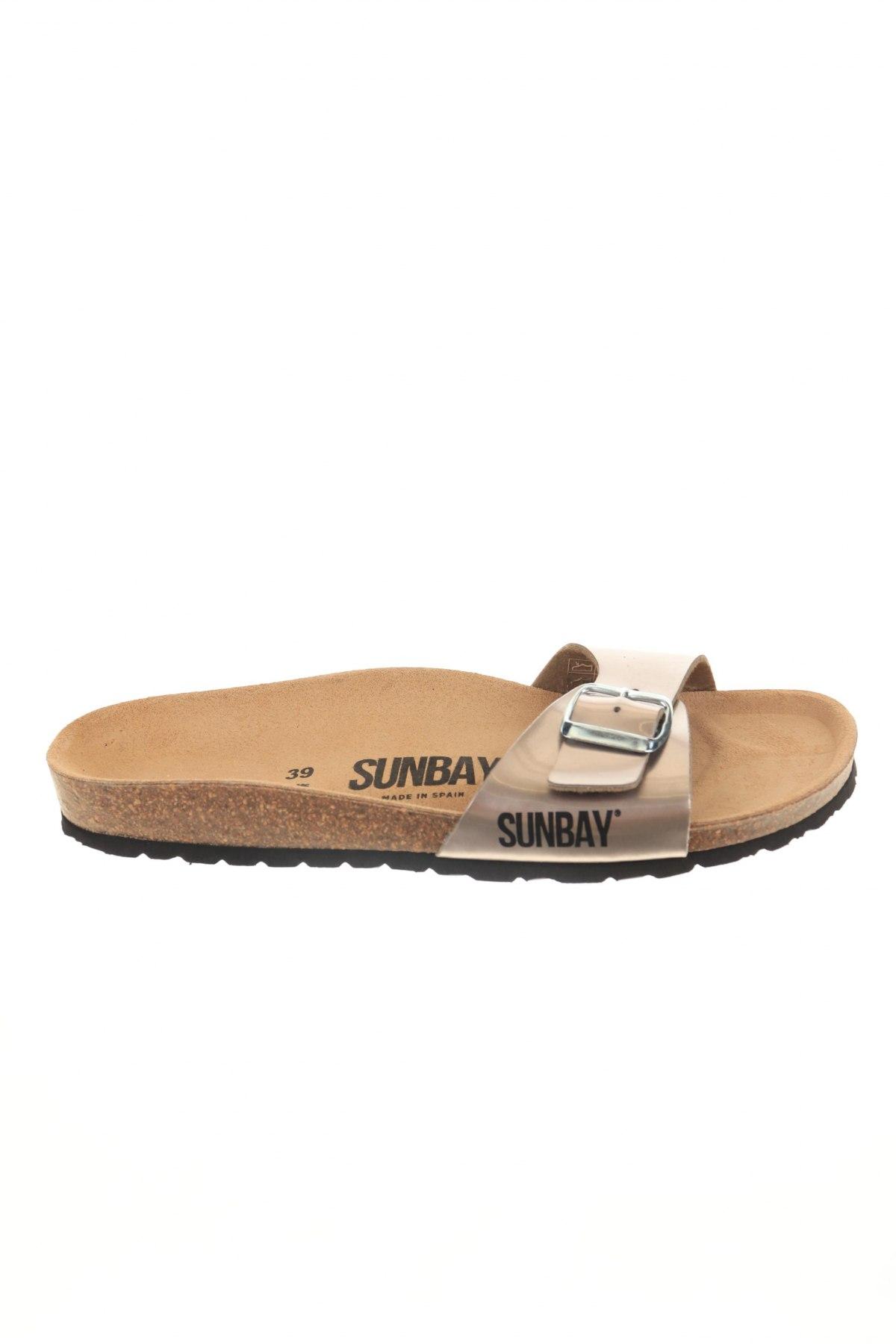 Γυναικείες παντόφλες Sunbay, Μέγεθος 39, Χρώμα  Μπέζ, Δερματίνη, Τιμή 18,32€