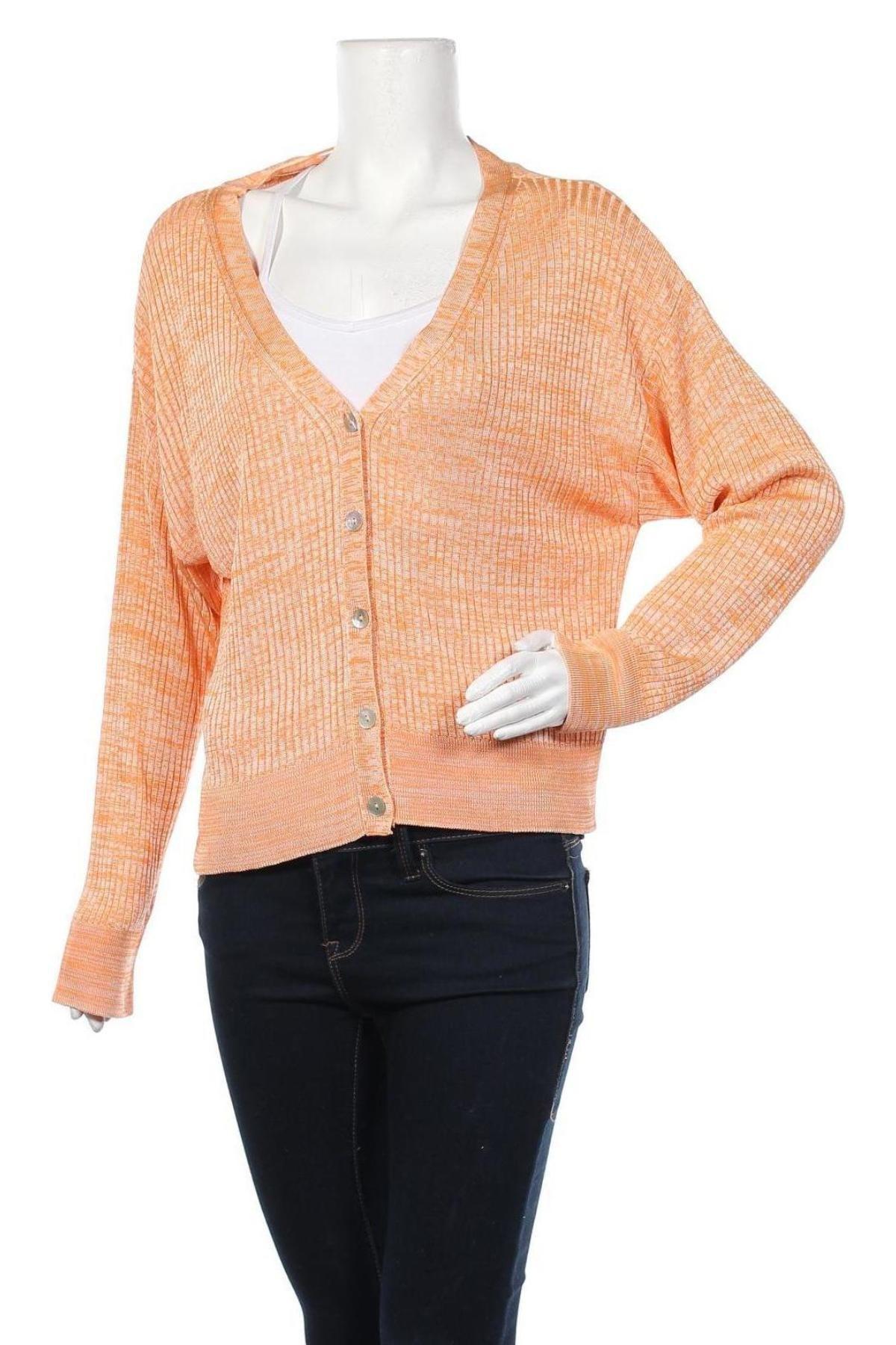 Γυναικεία ζακέτα Edited, Μέγεθος L, Χρώμα Πορτοκαλί, Βισκόζη, Τιμή 5,69€