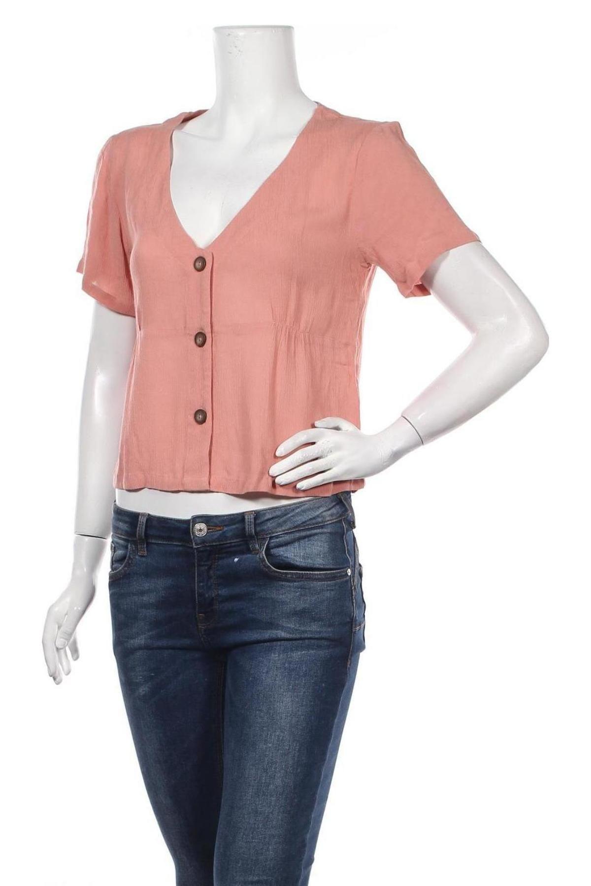 Дамска риза About You, Размер S, Цвят Розов, Вискоза, Цена 35,20лв.
