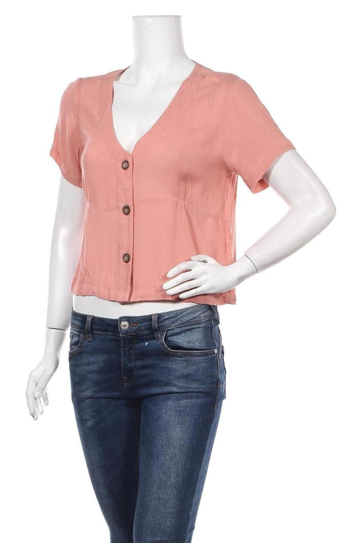 Дамска риза About You, Размер M, Цвят Розов, Вискоза, Цена 35,20лв.