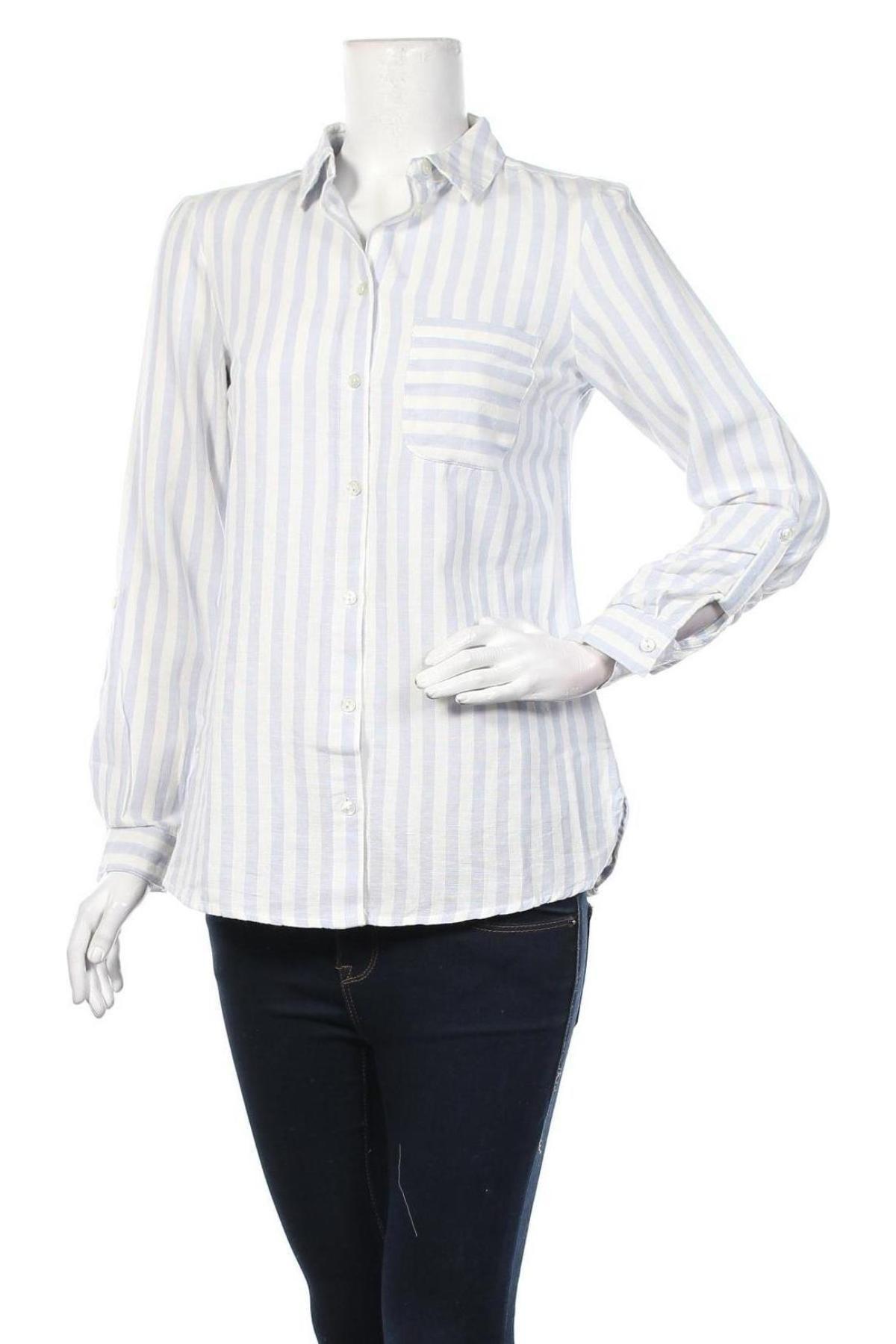 Дамска риза Dorothy Perkins, Размер S, Цвят Син, 90% памук, 10% лен, Цена 19,76лв.