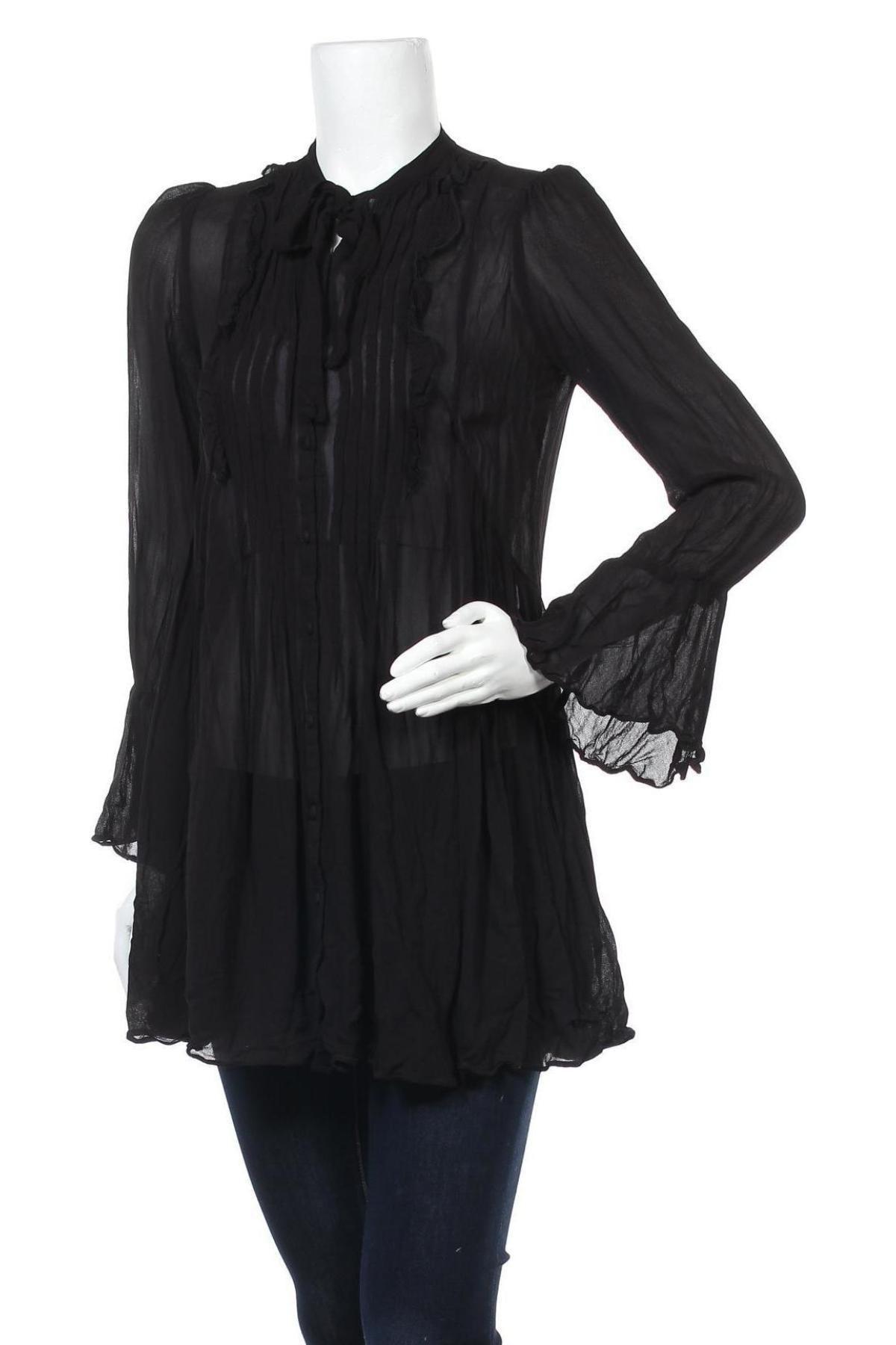 Дамска риза Farina Opoku, Размер M, Цвят Черен, Цена 44,25лв.
