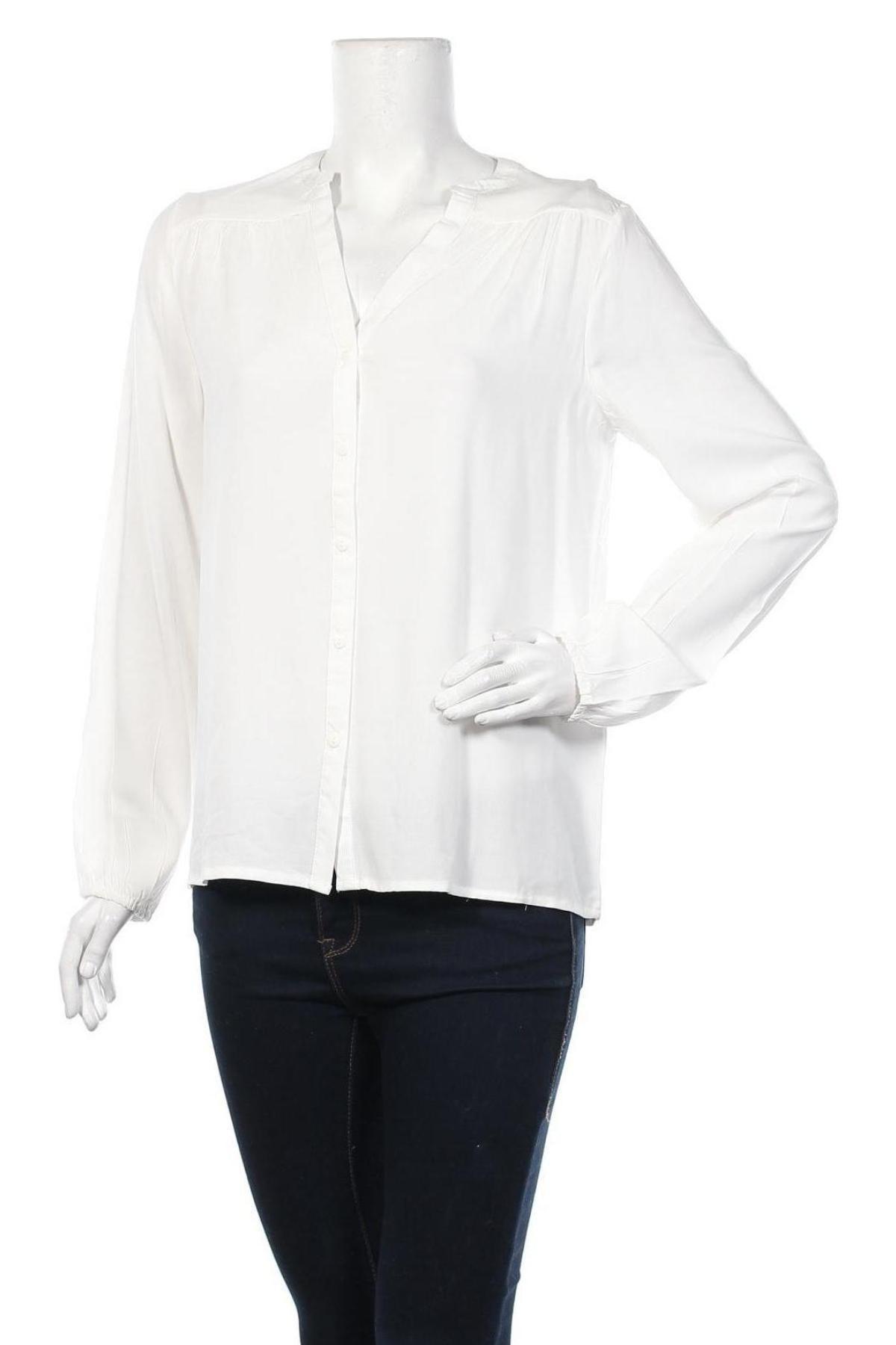 Дамска риза Jacqueline De Yong, Размер M, Цвят Бял, Вискоза, Цена 21,60лв.