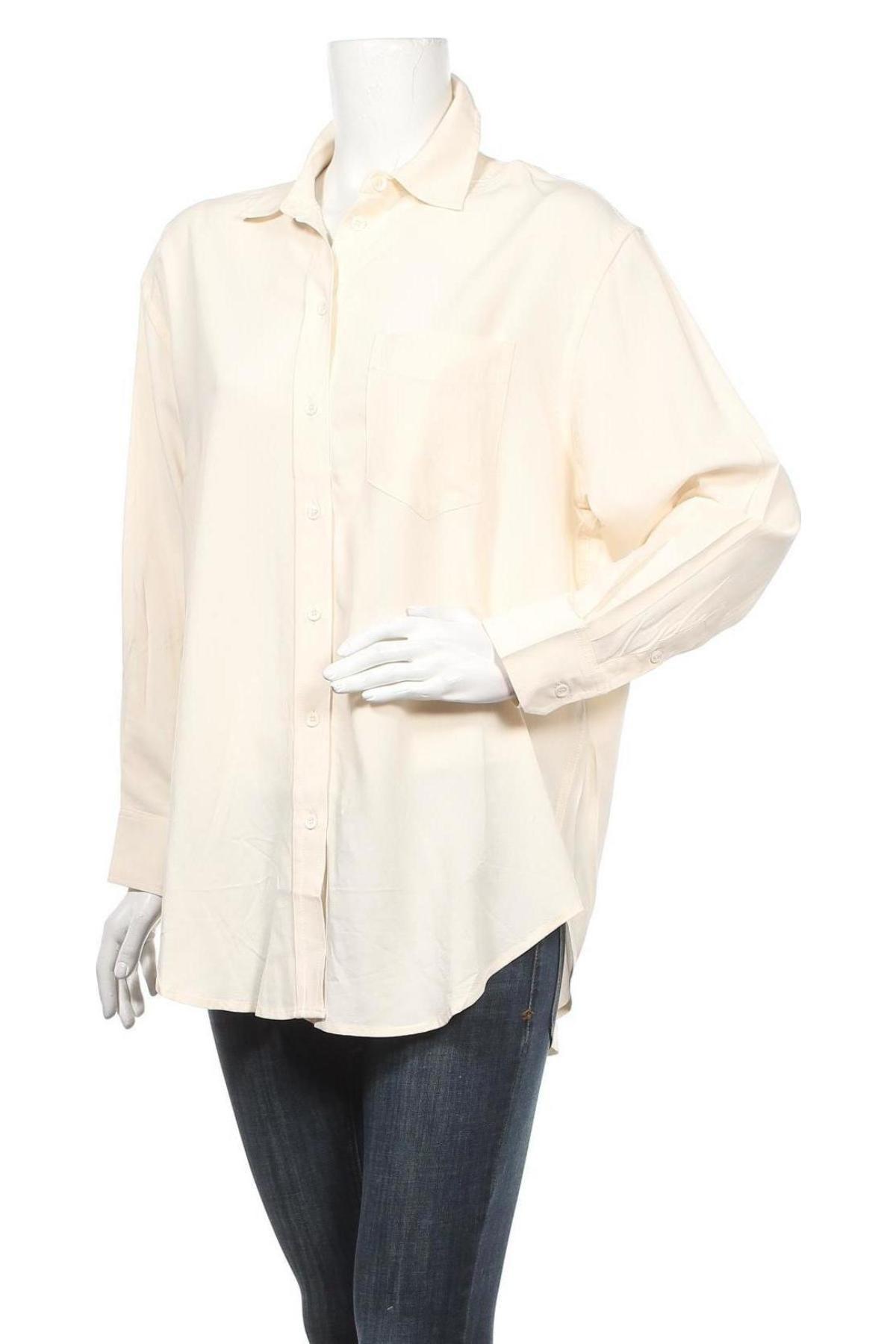 Дамска риза Mango, Размер S, Цвят Бежов, 70% вискоза, 30% тенсел, Цена 17,28лв.