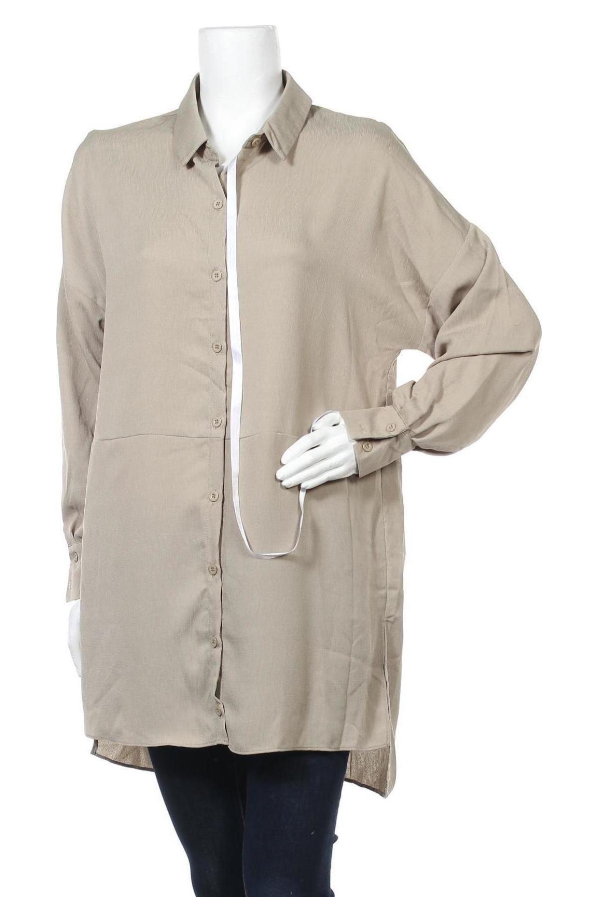 Дамска риза Missguided, Размер M, Цвят Зелен, Полиестер, Цена 16,10лв.