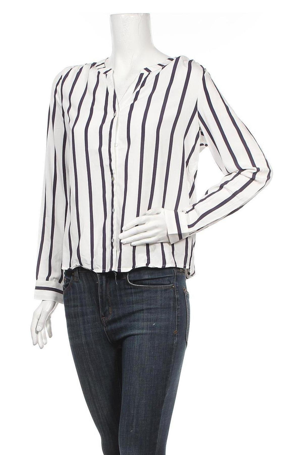Дамска риза ONLY, Размер S, Цвят Бял, 70% вискоза, 30% лиосел, Цена 23,60лв.