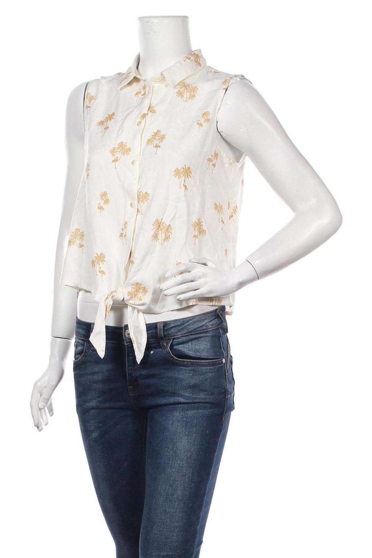 Дамска риза ONLY, Размер M, Цвят Бял, Вискоза, Цена 15,20лв.