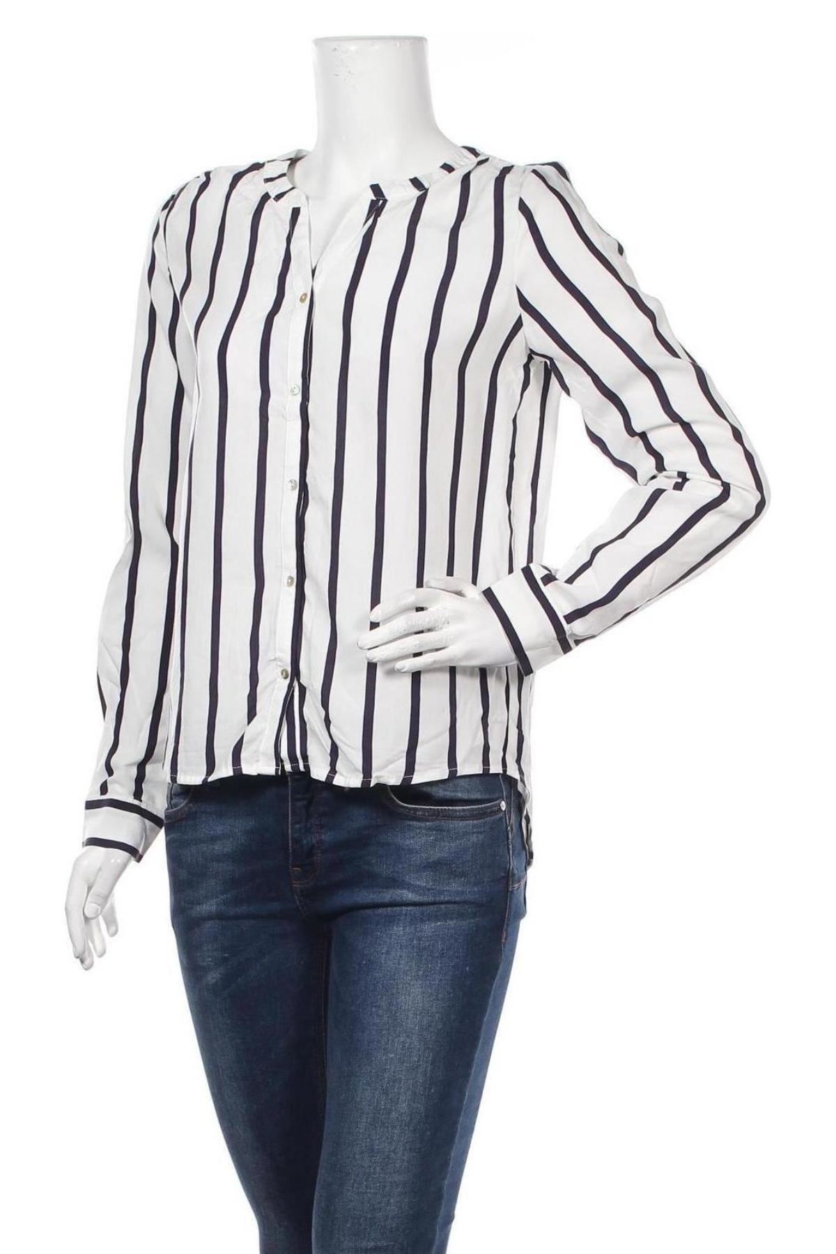 Дамска риза ONLY, Размер XS, Цвят Бял, 70% вискоза, 30% лиосел, Цена 23,60лв.