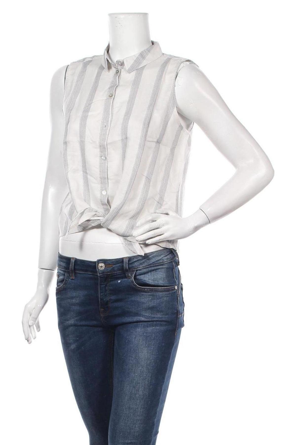 Дамска риза ONLY, Размер M, Цвят Бял, 59% лиосел, 41% лен, Цена 13,30лв.