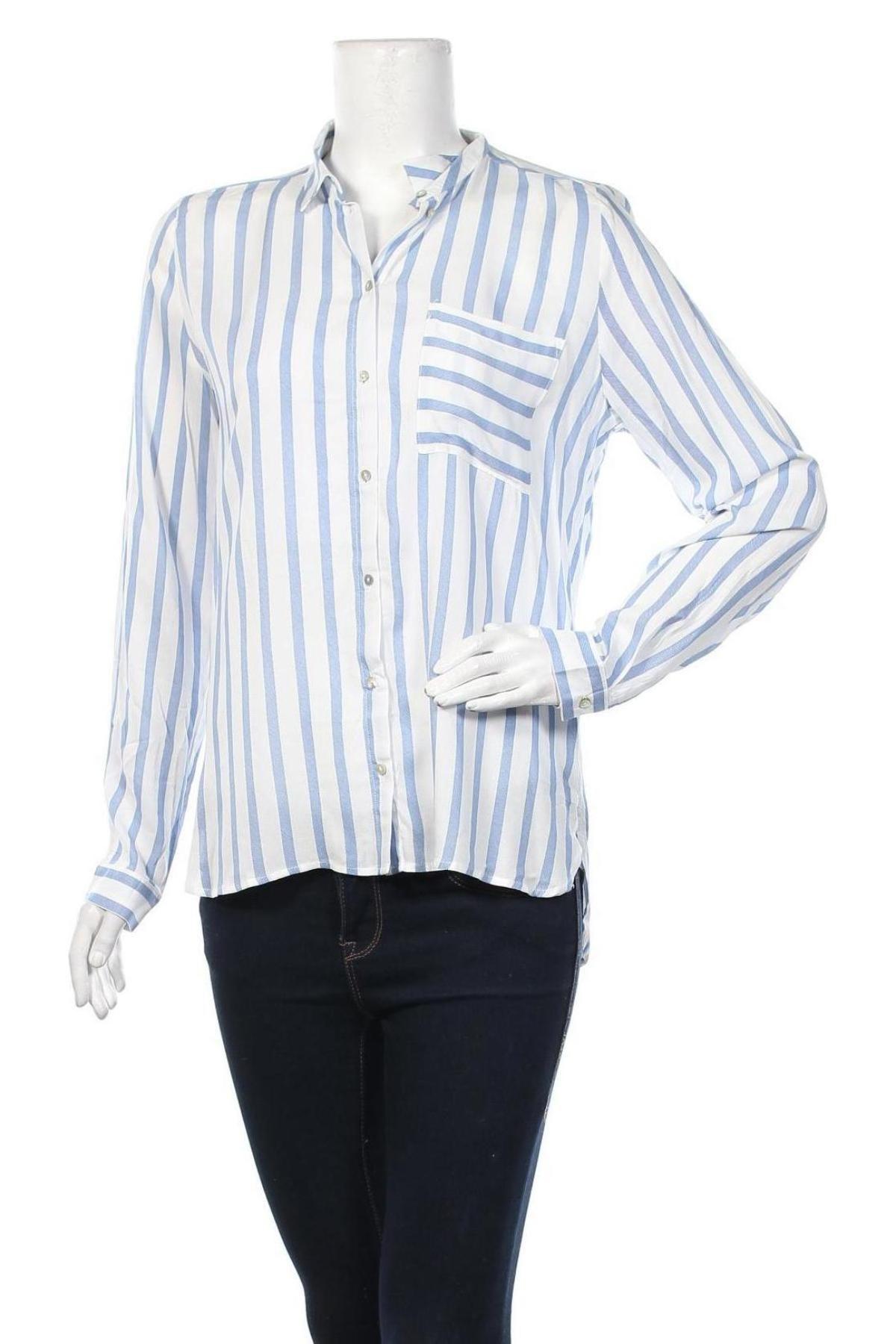 Дамска риза ONLY, Размер M, Цвят Бял, Вискоза, Цена 17,28лв.