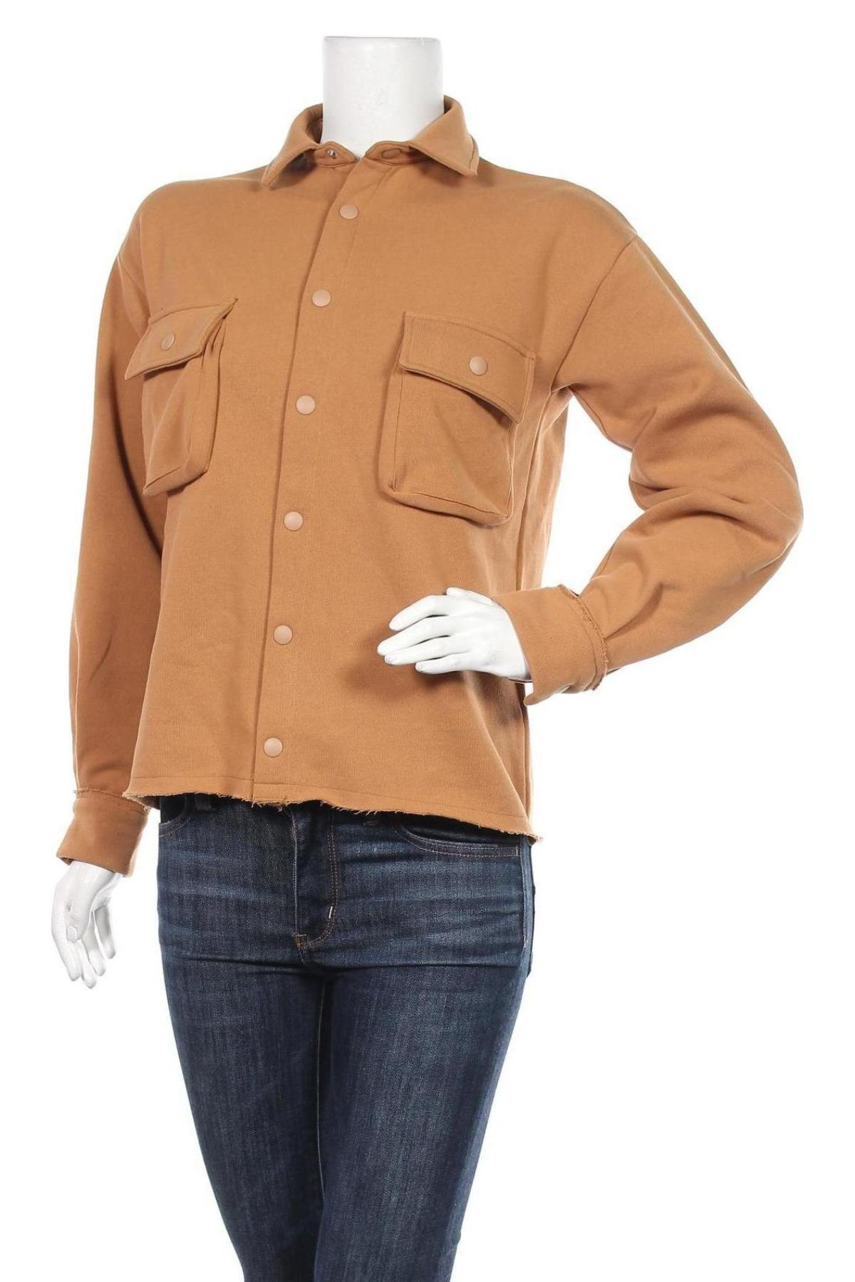 Дамска риза Stefanie Giesinger for Nu-in, Размер XXS, Цвят Кафяв, 52% памук, 48% полиестер, Цена 26,24лв.
