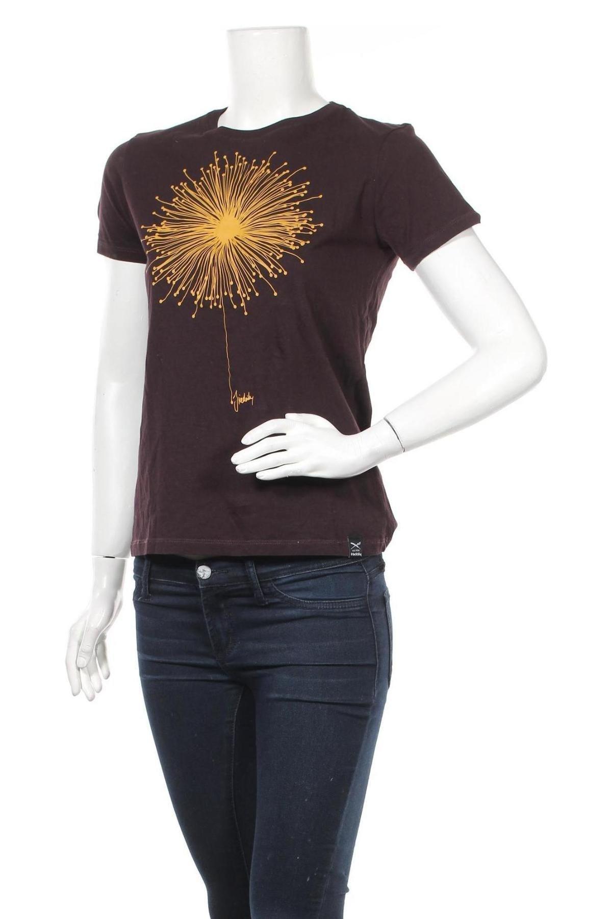 Дамска тениска Iriedaily, Размер M, Цвят Кафяв, Памук, Цена 27,20лв.