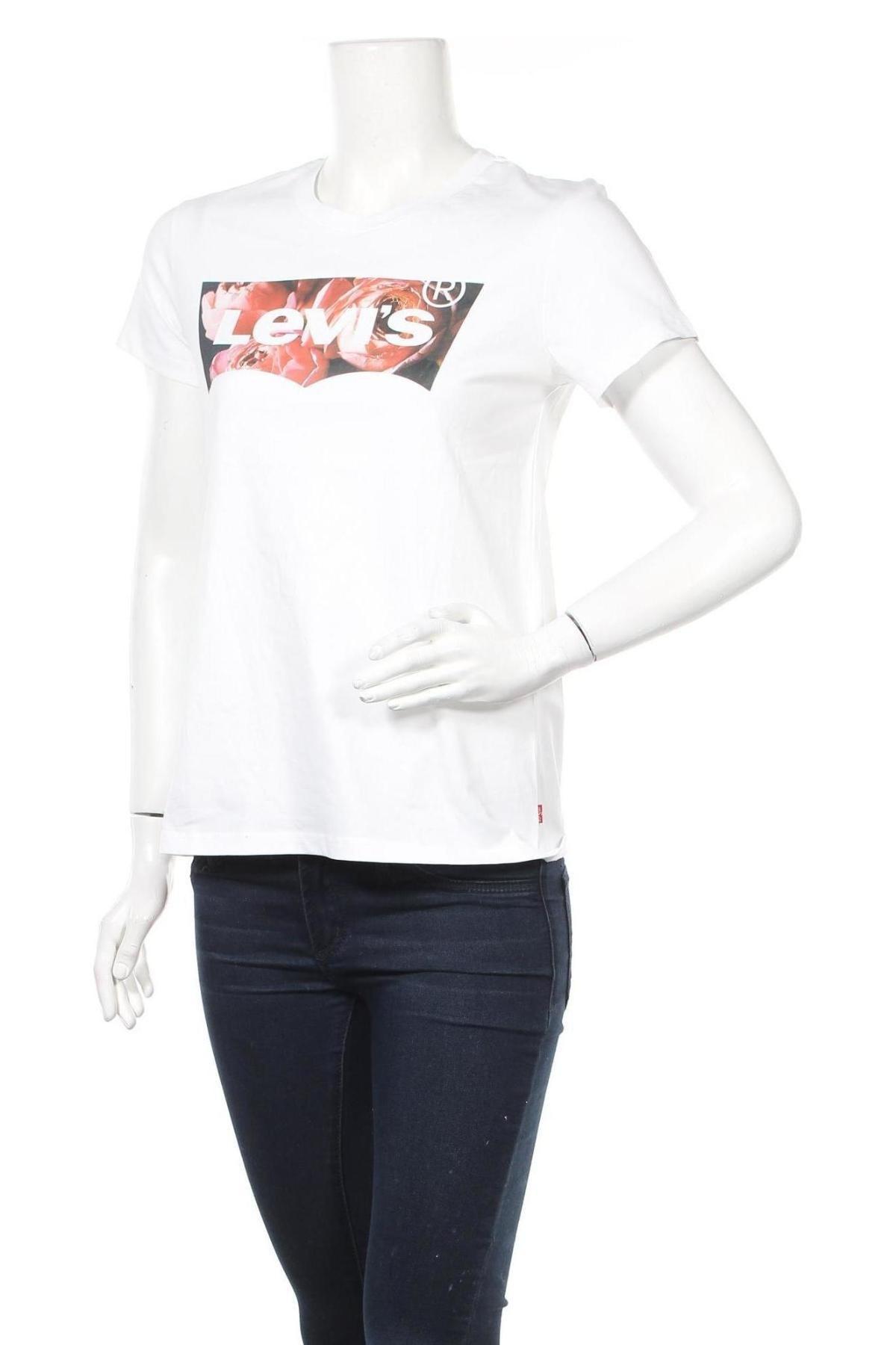Дамска тениска Levi's, Размер S, Цвят Бял, Памук, Цена 48,00лв.